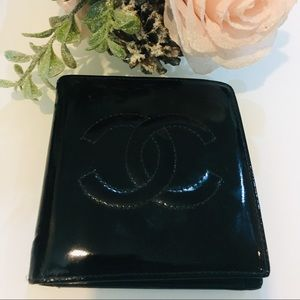 Chanel Patent Bifold Wallet - Authentic